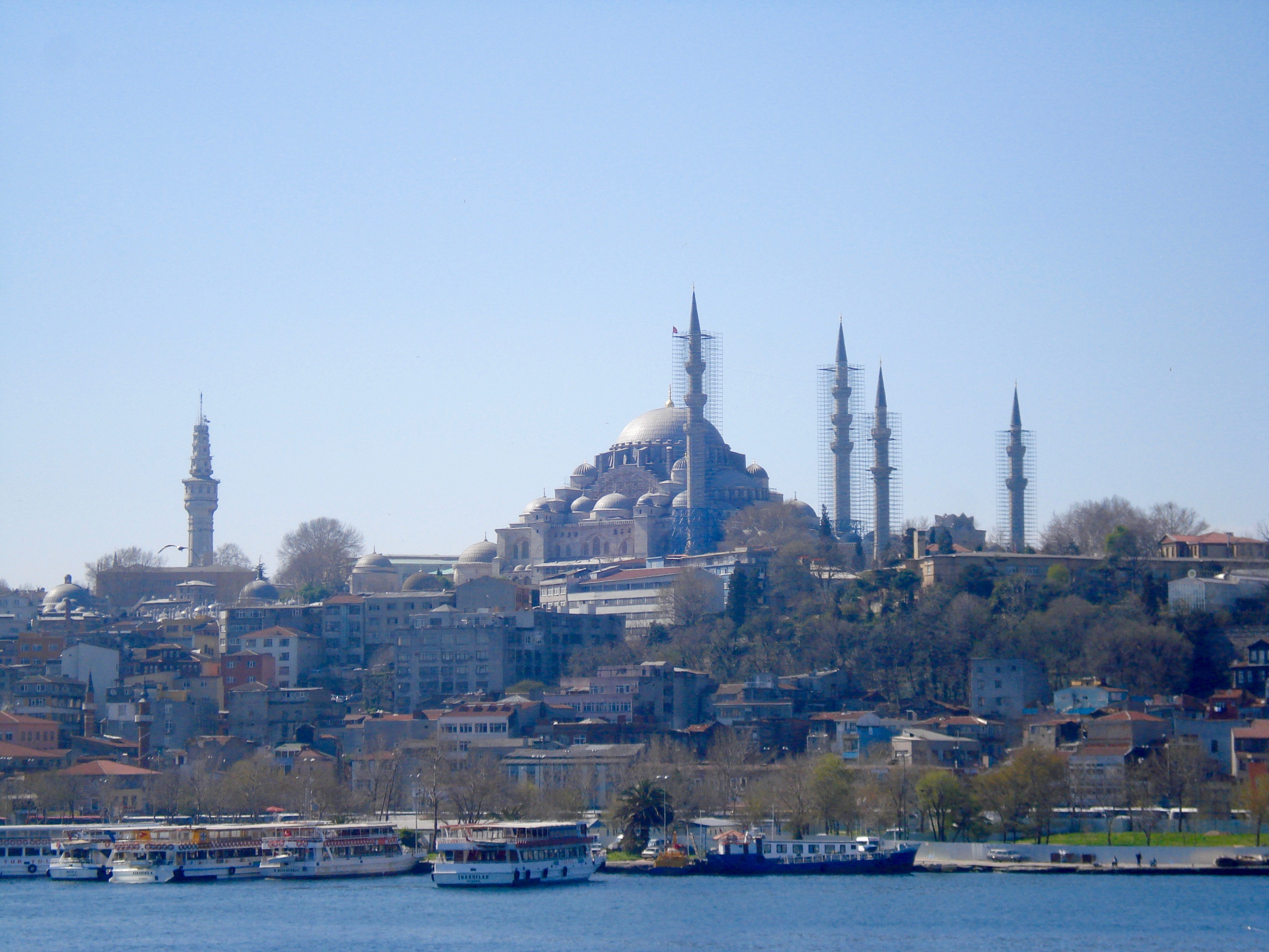 Istanbul skyline with grand mosque