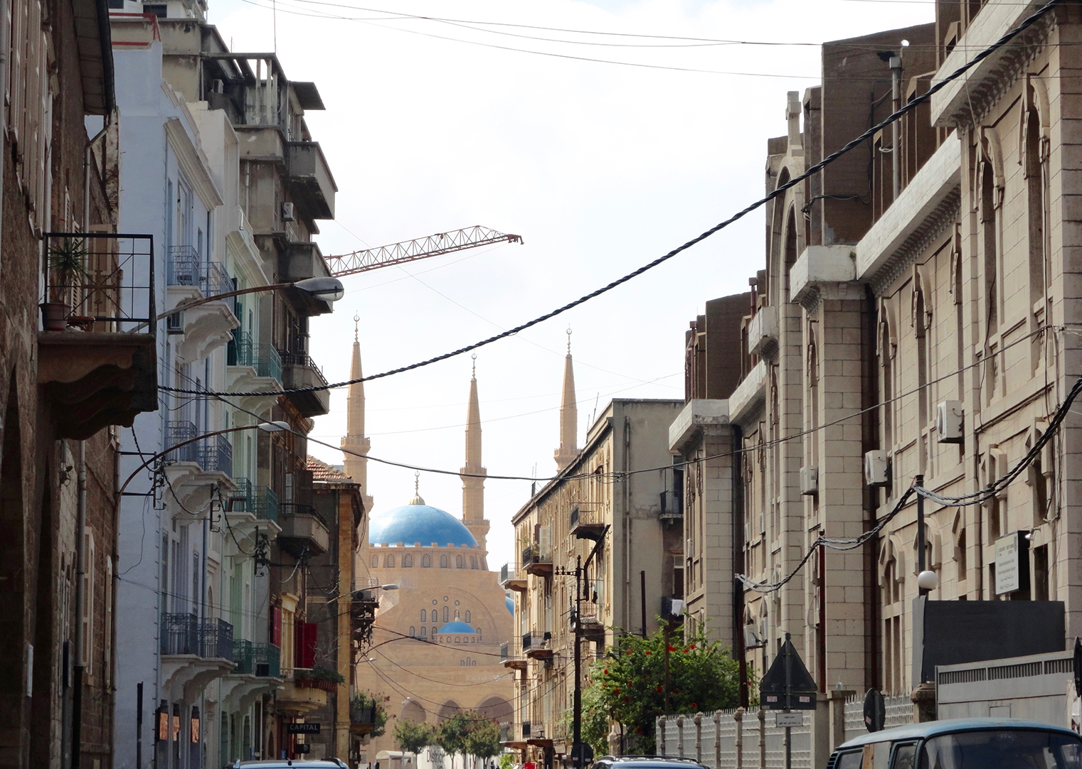 Downtown Beirut Lebanon with central mosque