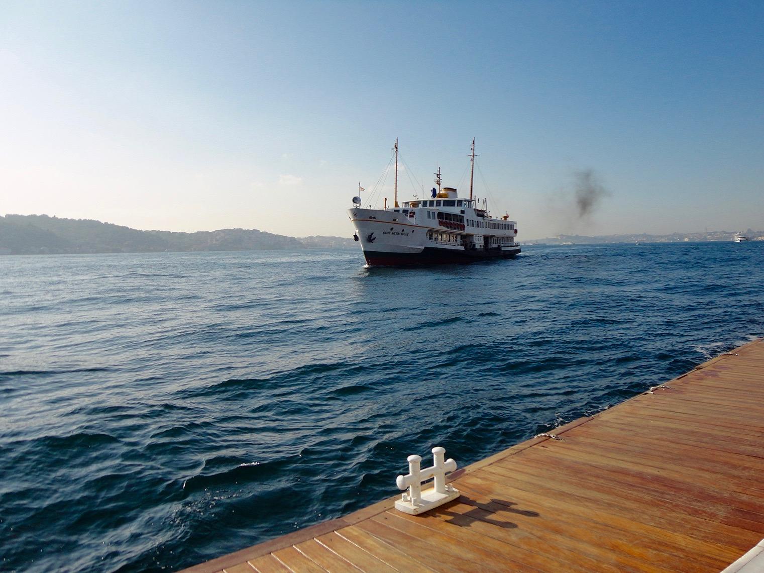 Ship up close on the Bosphorous Istanbul Turkey