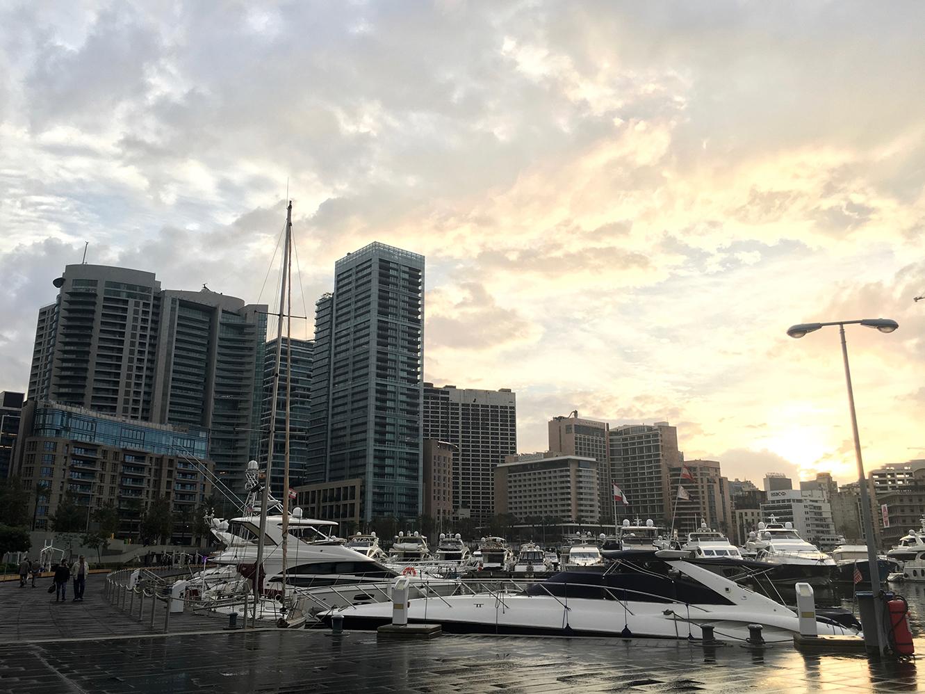 Zaitunay Bay yacht marina Beirut Lebanon